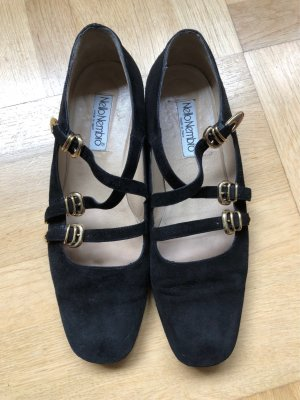 Mary Jane Ballerinas black-gold-colored