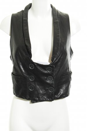Nelly Leather Vest black biker look