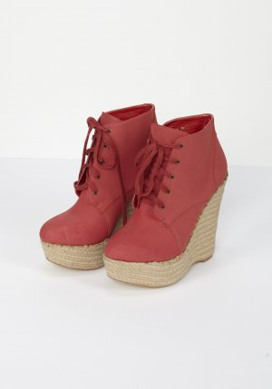 Nelly Platform Boots red-beige imitation leather