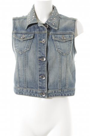 NEO Label Jeansweste kornblumenblau Washed-Optik