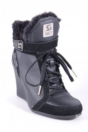 NEO Label Keil-Stiefeletten schwarz Skater-Look