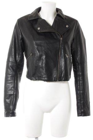 NEO Label Jack van imitatieleder zwart-zilver straat-mode uitstraling