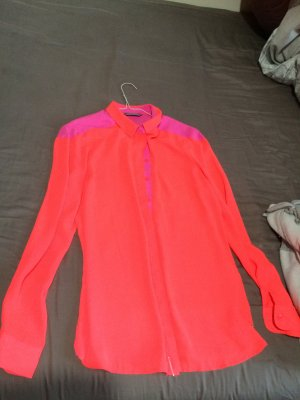 Tommy Hilfiger Long Sleeve Blouse neon orange-violet