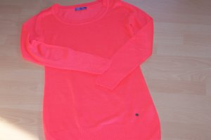 AJC Kraagloze sweater neonoranje