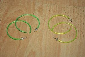 Neon gelb und neon grüne Ohrringe, Creolen