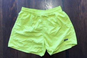 Neon-gelbe Badeshorts für Damen