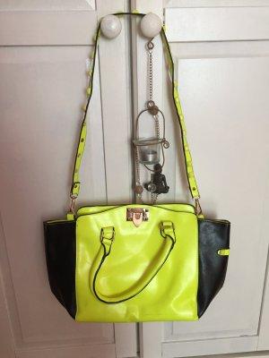 Neon gelbe Umhängetasche Handtasche mit Nieten