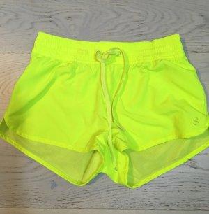 Neon gelber Sport Shorts für Fitness running