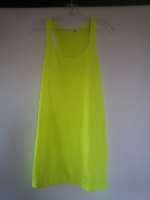 Neon gelbes Long Top Gr. S