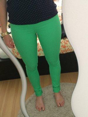 Neon-grüne skinny Hose von Pieces