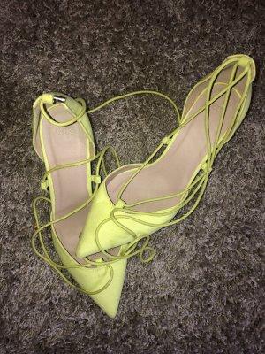 Asos Escarpins à lacets jaune fluo