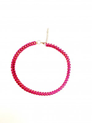 Neon Hippie Halskette Blogger Pink