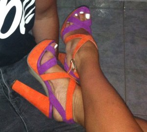 Atmosphere Strapped Sandals orange-purple