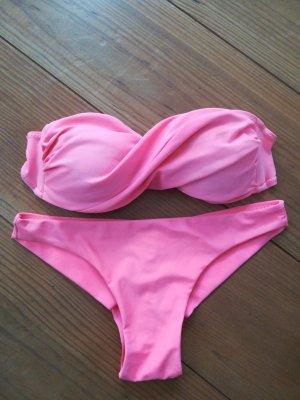 Neon Koralle Bandeau Bikini