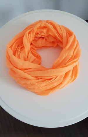 Écharpe ronde orange fluo