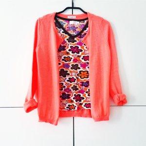 neon orange strickjacke