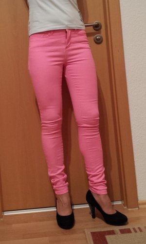 neon-pink farbene Jeans von Vero Moda, Gr. 28/32