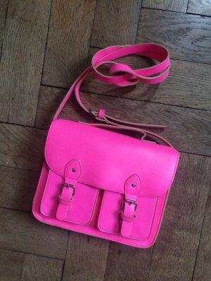 Neon pink Satcheltasche
