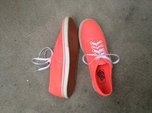 Neon Pinke/orangene  Vans