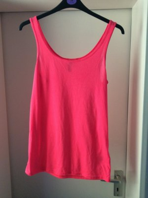 neon pinkes Basic Top von H&M Divided