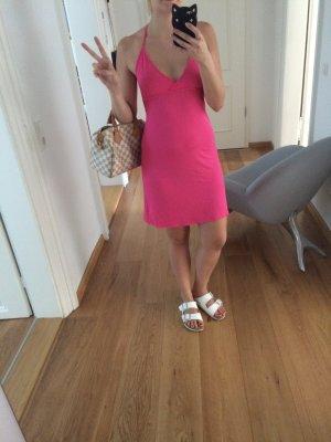 Neon Pinkes neckholder Kleid