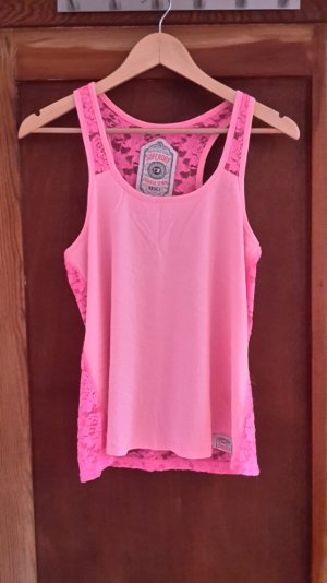 Neon pinkes Top von Superdry