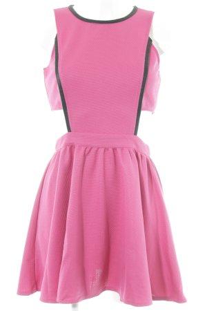 Neon Rose Minikleid pink-schwarz extravaganter Stil