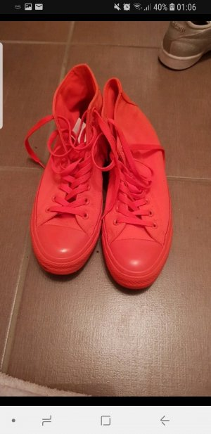 neon rote Pinke Converse