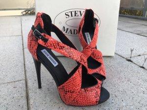 Neon Steve Madden High Heel, Schlangenmuster, Größe 39