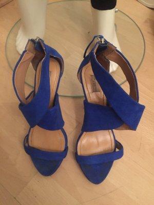 Neonblaue High Heel Sandaletten (Zara) Gr.37