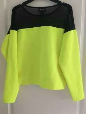 Neongelb- schwarzer Monki Crop Pullover