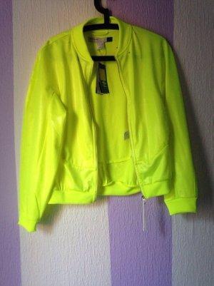 Neongelbe Adidas Jacke