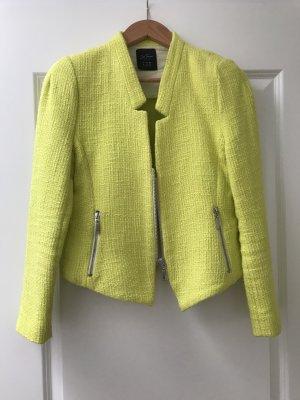Neongelber Tweed-Blazer von Zara