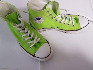 Neongrüne Converse Chucks