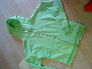 neongrüne Sweatjacke 38