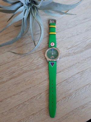 neongrüne Uhr