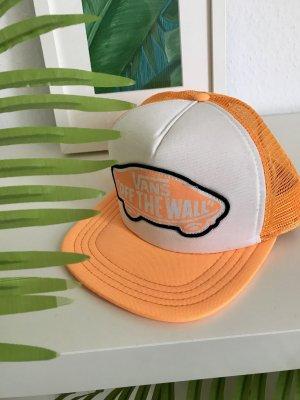 Vans Gorra de béisbol naranja neón-blanco