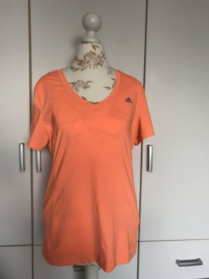 Adidas T-shirt de sport orange fluo