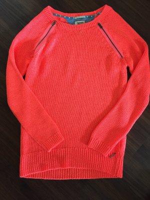 Neonpink/orange farbener Pullover von Hilfiger Denim Größe S