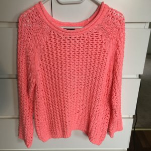 H&M Coarse Knitted Sweater neon pink