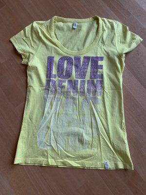 Neonshirt mit Aufdruck