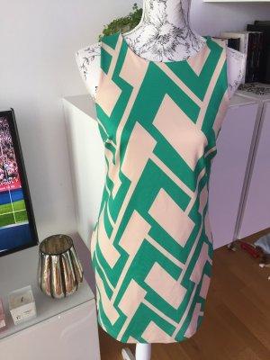 Neopren Kleid Creme grün Gr 38