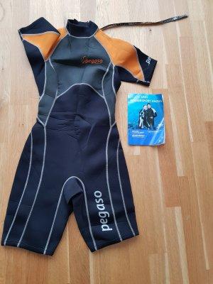 Sportjack zwart-donker oranje