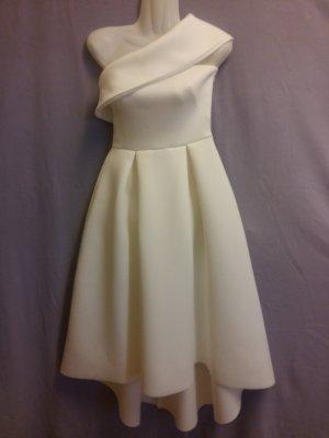 Asos Vestido de un hombro blanco Poliéster