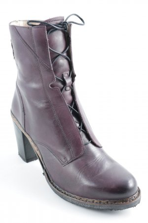 Neosens Lace-up Booties dark violet-black simple style