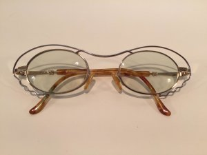 Glasses light brown-silver-colored metal