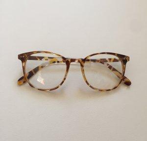 Nerd Brille durchsichtig Blogger Leopardenmuster