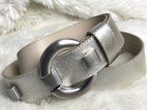 Nero Giardini Faux Leather Belt silver-colored-cream