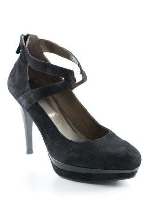 Nero Giardini High Heels schwarz-goldfarben Elegant