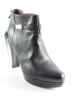 Nero Giardini Reißverschluss-Stiefeletten schwarz Casual-Look